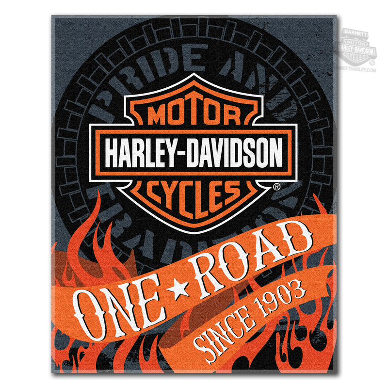Harley-Davidson® Mens H-D Flares with B&S 54 x 68 Black Beach Towel 54