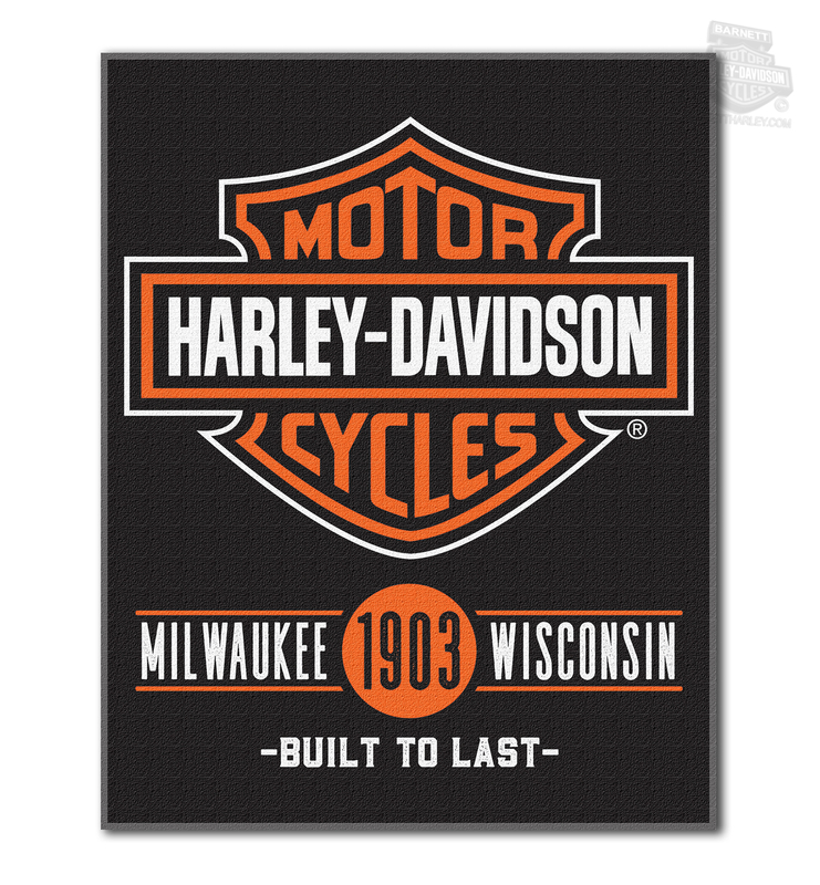 Harley-Davidson® Mens H-D Unionized B&S Black Beach Towel 54