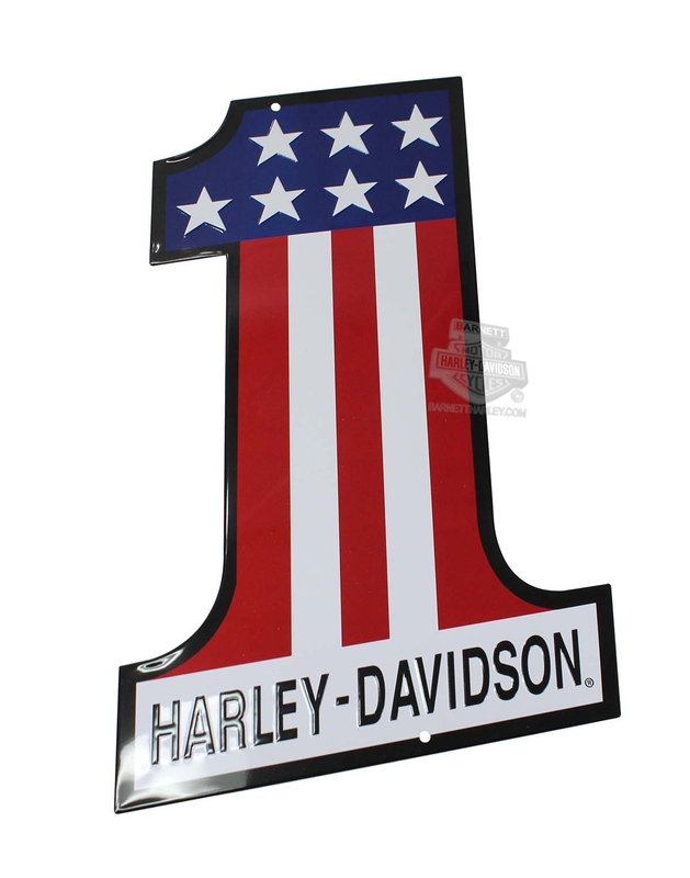 Harley-Davidson® #1 Die-Cut Tin Sign