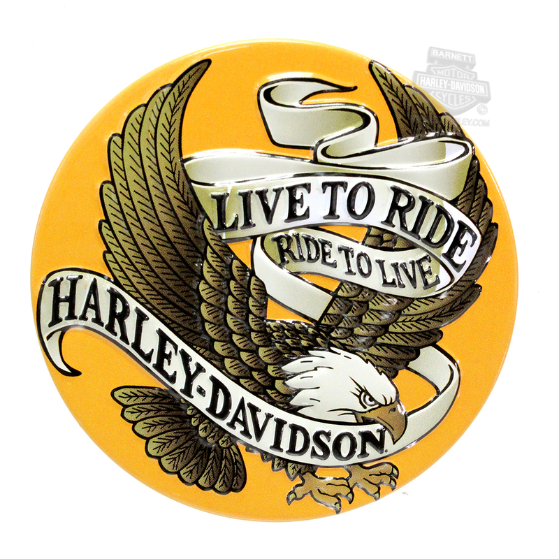 Harley-Davidson® Magnet Live To Ride Eagle