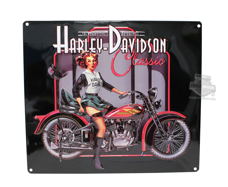 Harley-Davidson® Classic Pin Up Babe Tin Sign