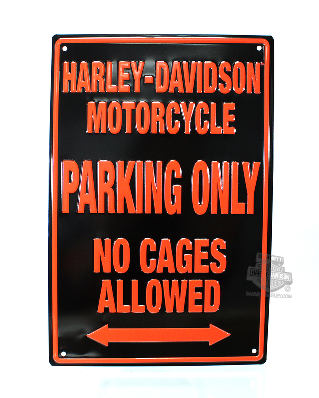 Harley-Davidson® Black No Cages Tin Sign