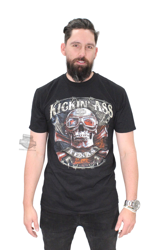 ** LARGE & 5X ONLY ** Harley-Davidson® Mens Texas Kickin Ass Since 1845 Black Short Sleeve T-Shirt