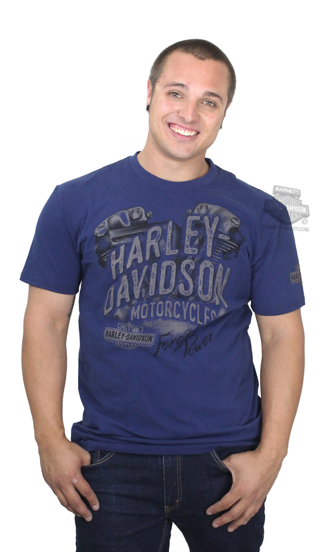 ** SIZE 3X ONLY ** Harley-Davidson® Mens Fuel Operation Flex Bend Navy Short Sleeve T-Shirt