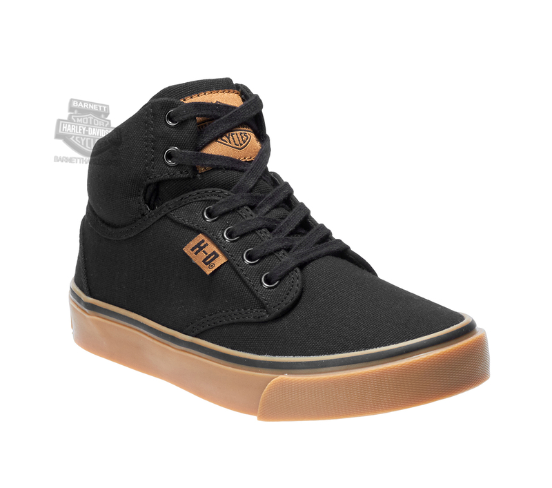 Harley-Davidson® Boys Youth Boyton Black Casual Shoe