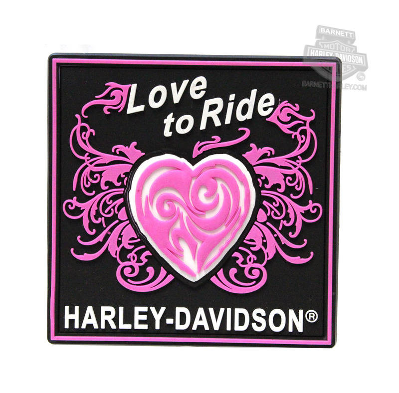 ** 2 for $5 ** Harley-Davidson® Love To Ride Heart Mile-Tiles™ Magnet