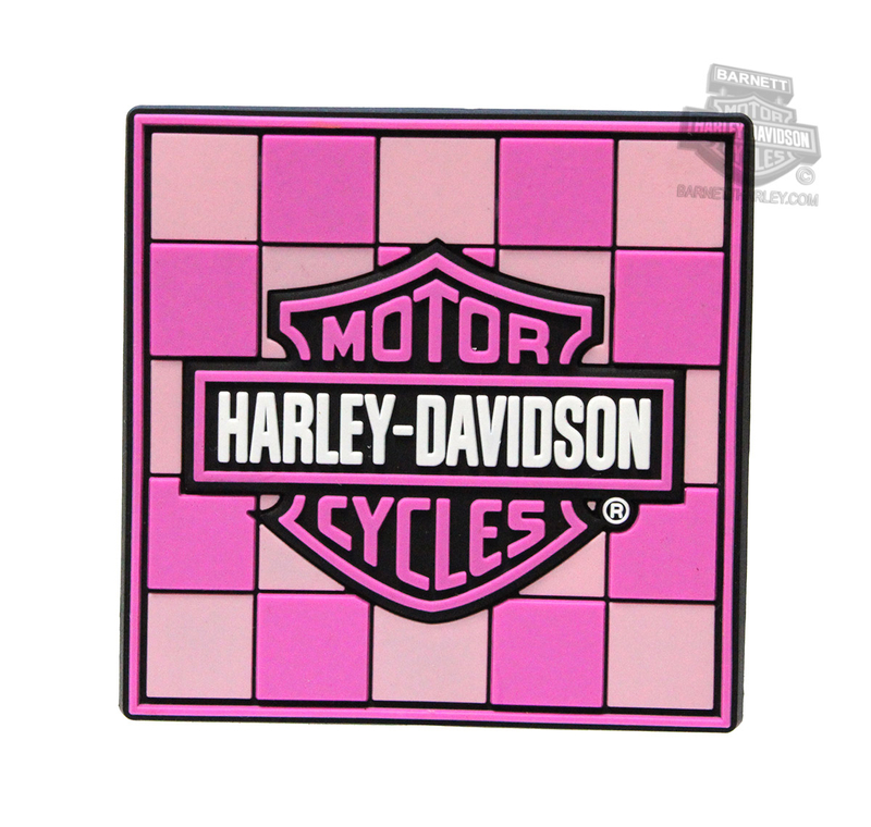 Harley-Davidson® Ladies Pink Checker with B&S Mile-Tiles™ Magnet