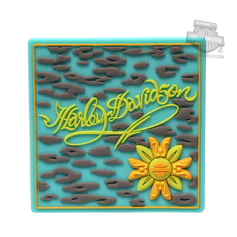 ** 2 for $5 ** Harley-Davidson® Blue Leopard with Flower Mile-Tiles™ Magnet