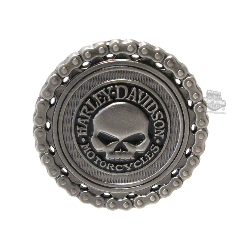 Harley-Davidson® Mens The Willie G Skull Chain with B&S 1.75