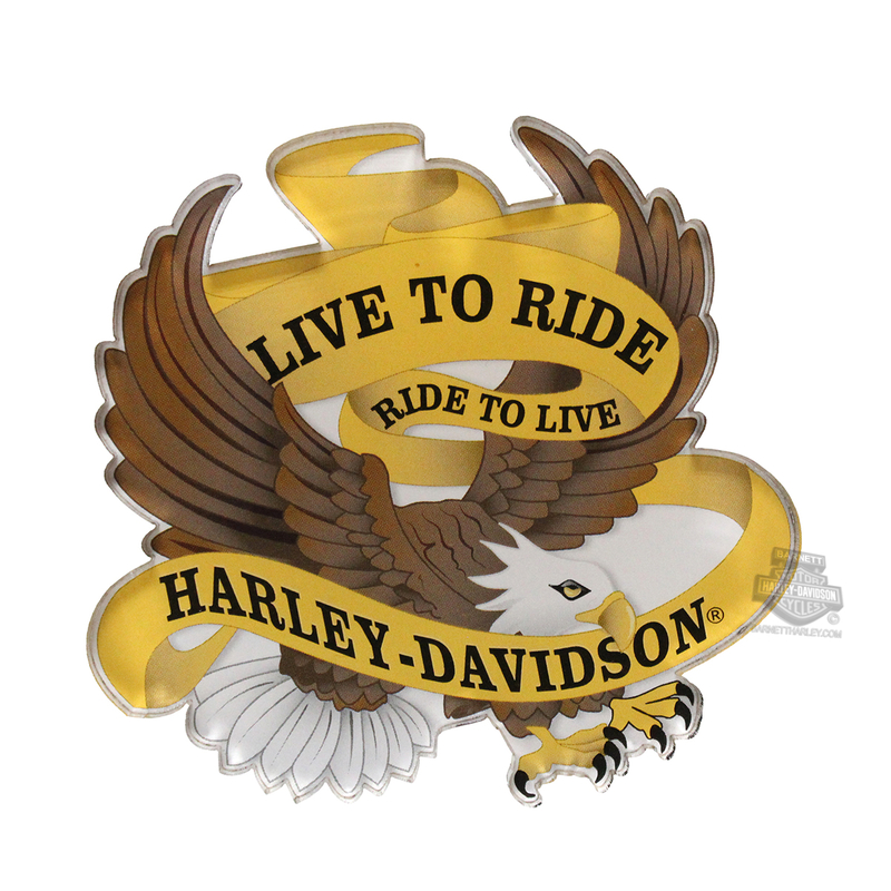 Harley-Davidson® Mens Live to Ride Eagle Acrylic 3.5