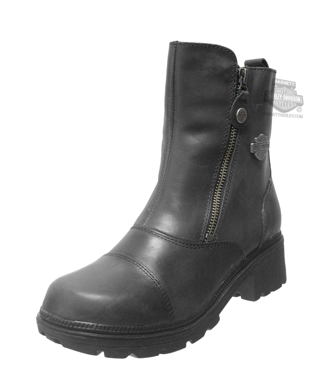 Harley-Davidson® Womens Amherst Black Leather Low Cut Boot