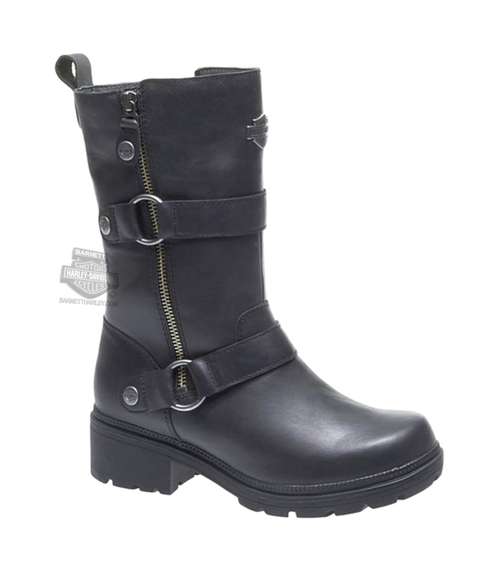 Harley-Davidson® Womens Ardsley Black Leather Mid Cut Boot
