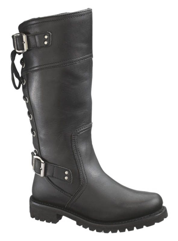 Harley-Davidson® Womens Alexa Black High Cut Riding Boot - H-D® Dealer Exclusive