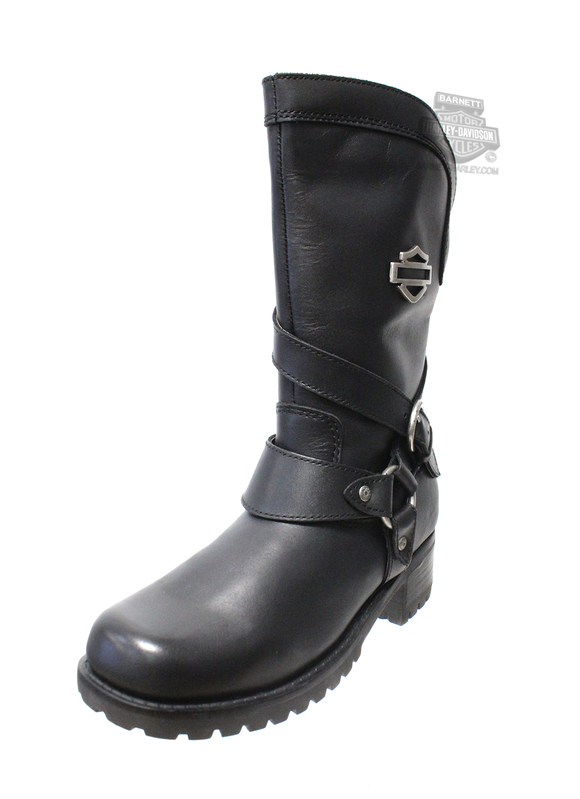 Harley-Davidson® Womens Amber Black Water Resistant Mid Cut Boot - H-D® Dealer Exclusive