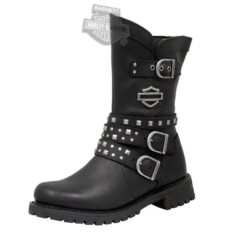 fd274de81f2e Harley-Davidson® Womens Adrian Black Leather Mid Cut Boot - H-D® Dealer  Exclusive