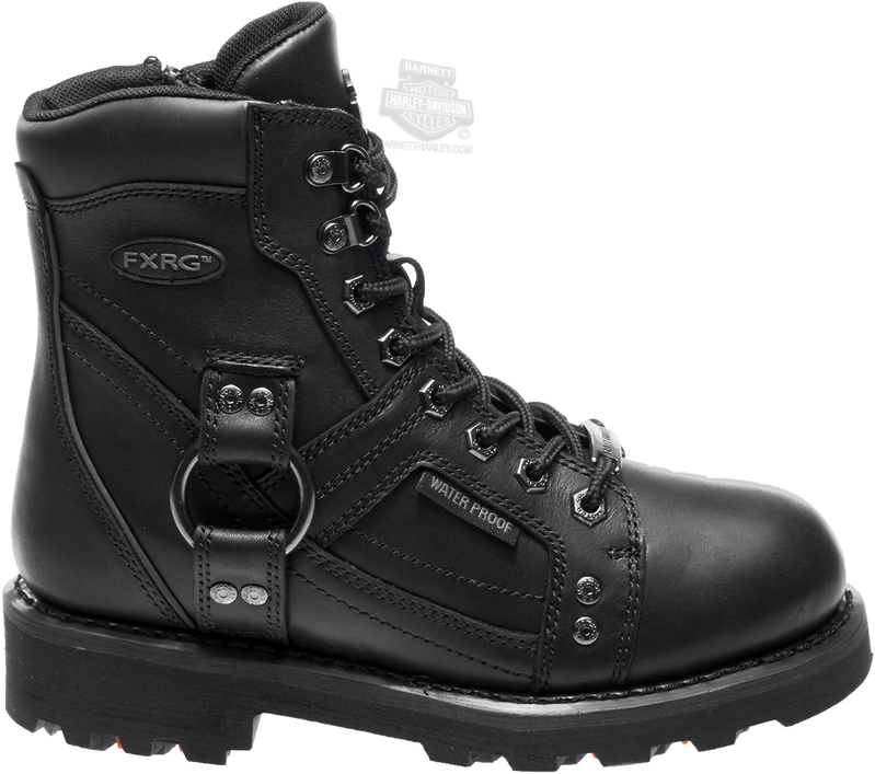 Harley-Davidson® Womens Everton FXRG® Waterproof Black Leather Mid Cut Boot - H-D® Dealer Exclusive