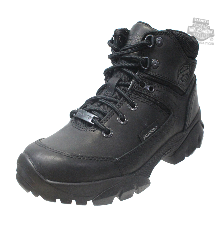 Harley-Davidson® Womens Huxley Waterproof Black Leather Low Cut Boot - H-D® Dealer Exclusive