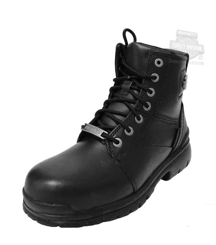 Harley-Davidson® Mens Gage Composite Toe Waterproof Black Leather Low Cut Boot