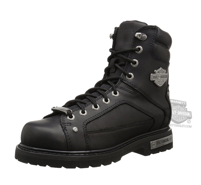 54f824684f24 Harley-Davidson® Mens Abercorn Composite Toe Black Leather Mid Cut Boot