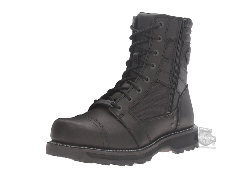 Harley-Davidson® Mens Boxbury Composite Toe Black Leather Mid Cut Boot