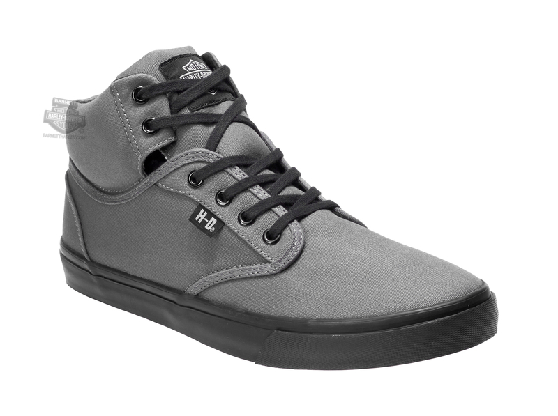 a1069437b387 Harley-Davidson® Mens Wrenford Grey Canvas Casual Shoe