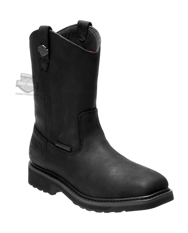Harley-Davidson® Mens Altman Waterproof Black Leather Mid Cut Boot