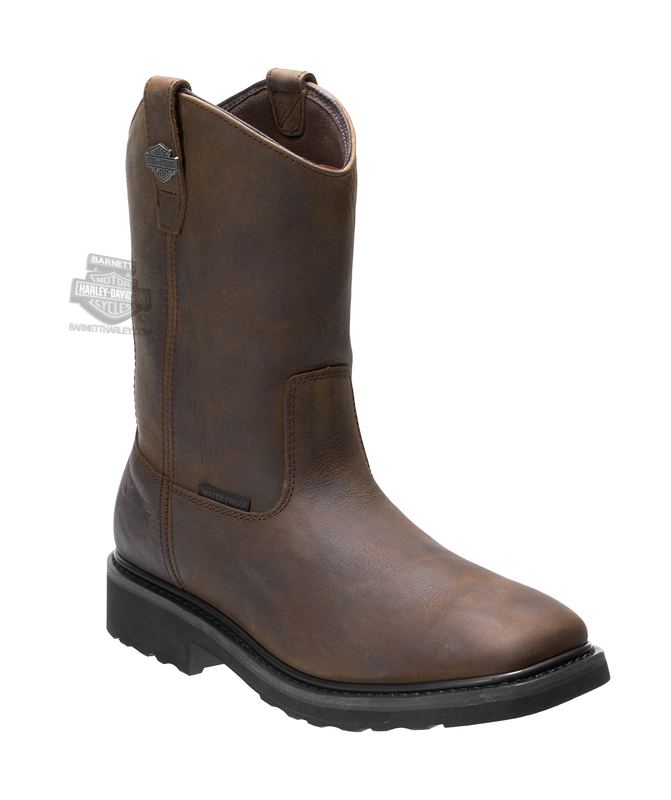 Harley-Davidson® Mens Altman Waterproof Brown Leather Mid Cut Boot
