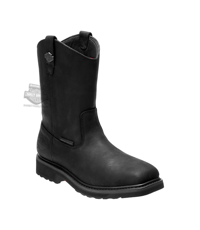 Harley-Davidson® Mens Altman Waterproof Composite Toe Black Leather Mid Cut Boot