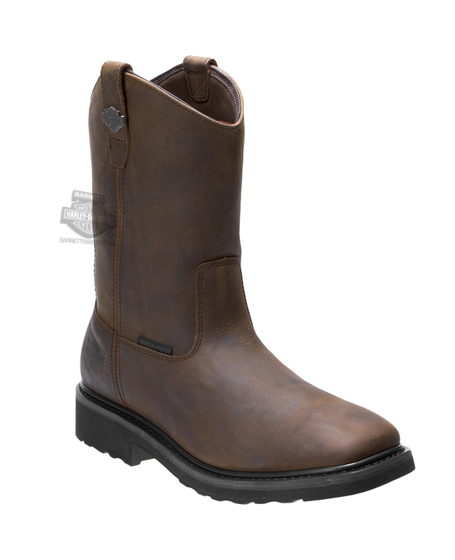 Harley-Davidson® Mens Altman Waterproof Composite Toe Brown Leather Mid Cut Boot