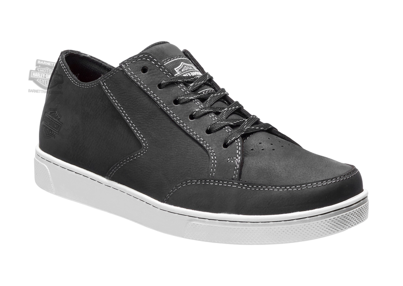 Harley-Davidson® Mens Luton Black Leather Casual Shoe