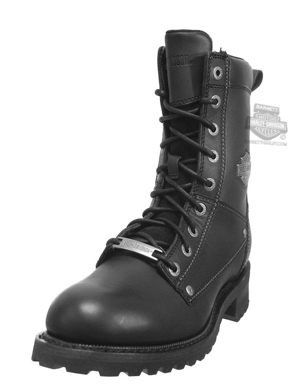 Harley-Davidson® Mens Benteen Heat Resistant Black Leather Mid Cut Boot