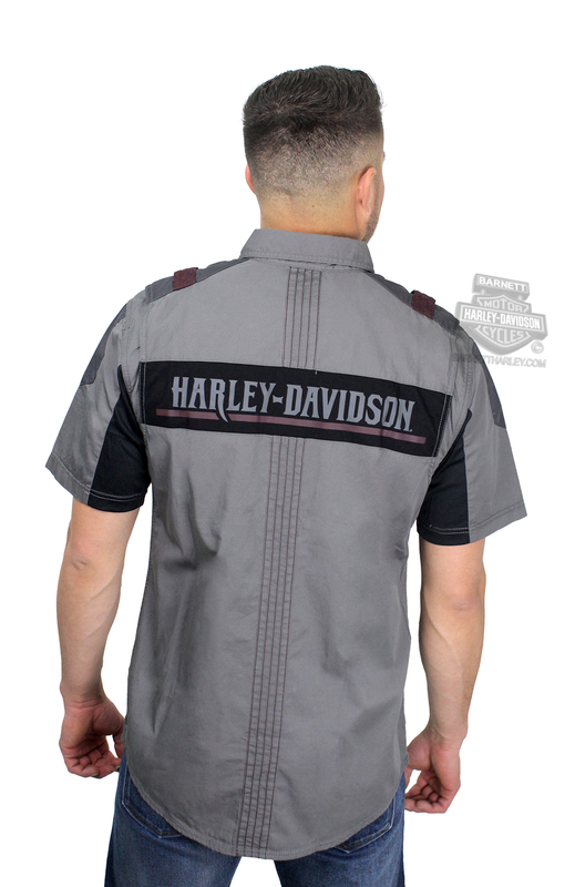 halery davidson big check shirt