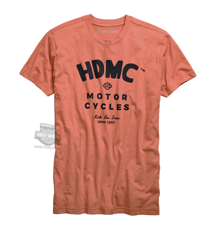Harley-Davidson® Mens Kick Ass Iron Slim Fit Orange Short Sleeve T-Shirt