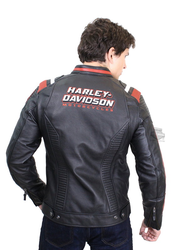 Harley-Davidson® Mens Boxford with 3M™ Thinsulate™ Insulation Black Leather Jacket