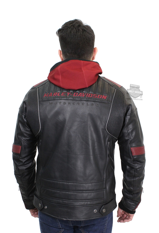 Harley-Davidson® Mens Donhill H-D 3-In-1 Midweight Black Leather Jacket