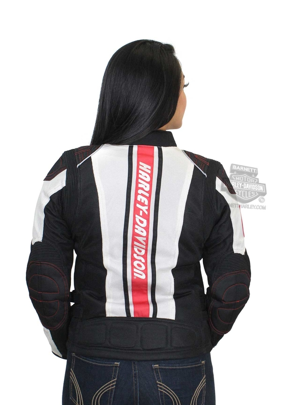Harley-Davidson® Womens Prairie Winds Mesh Riding with Coolcore™ Technology Off White Functional Jacket