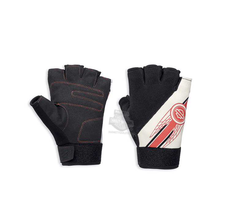 Harley-Davidson® Womens Arlee Mesh with COOLCORE™ Technology Black Polyester Fingerless *1919*