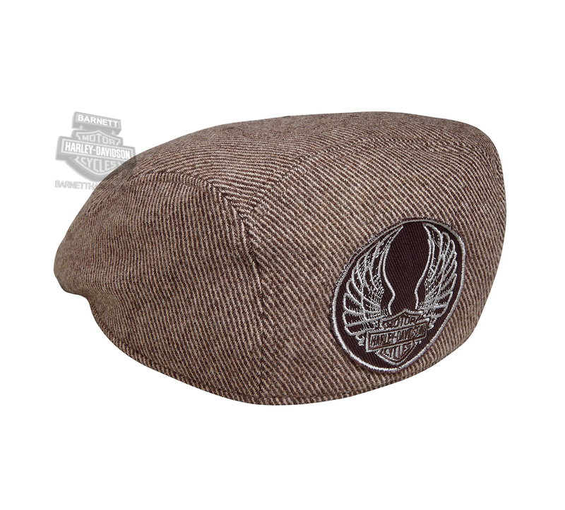 66a33c7c566 Harley-Davidson® Mens Washed Winged B S Logo Brown Wool Blend Ivy Cap