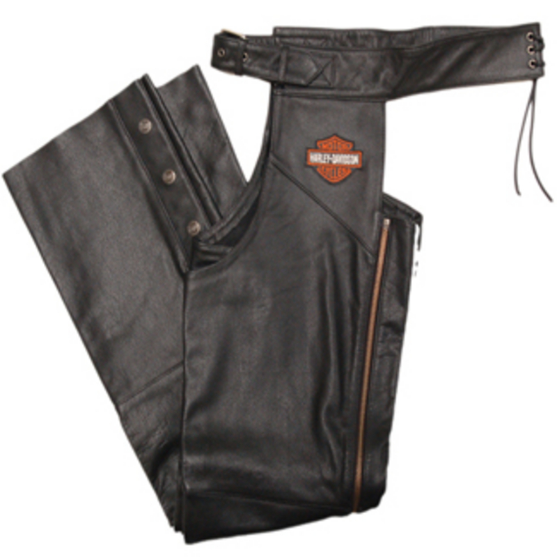 ** SIZE 5X ONLY ** Harley-Davidson® Mens Stock Black Chaps