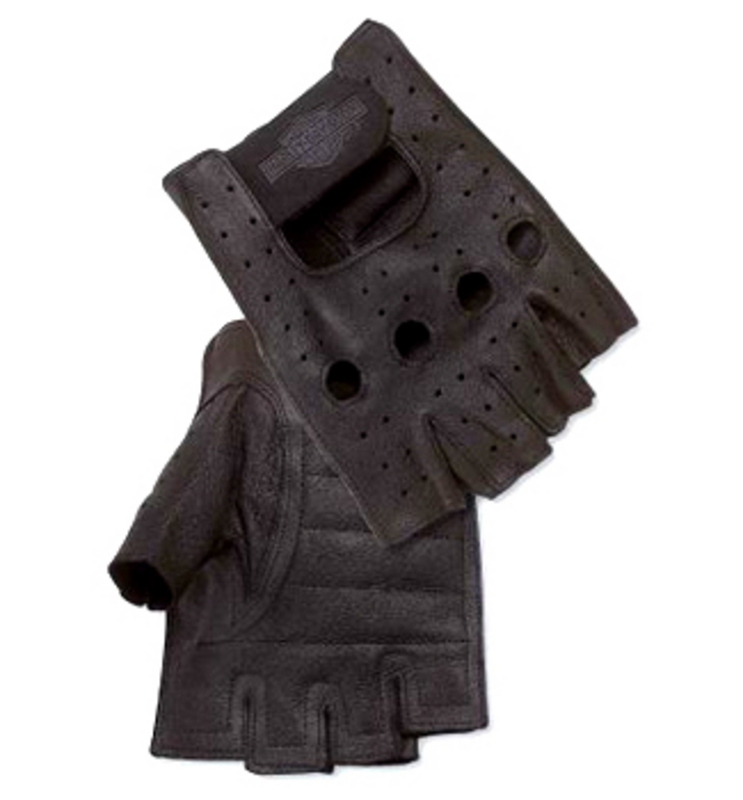 Harley-Davidson® Mens Pigskin Fingerless Gloves