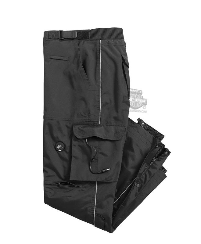 Harley-Davidson® Mens Heated BTC 12V Waterproof Reflective Riding Black Functional Overpant