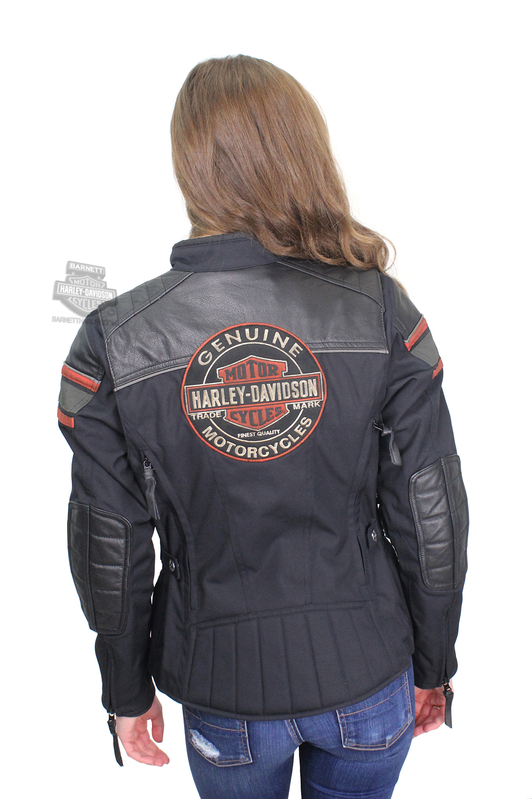 c6e6d14444258 Harley-Davidson® Womens Worden Trademark B S Triple Vent System™ Black Leather  Jacket
