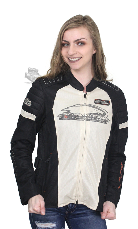 Harley-Davidson® Womens Screamin Eagle Reflective Mesh Riding Stone Casual Jacket