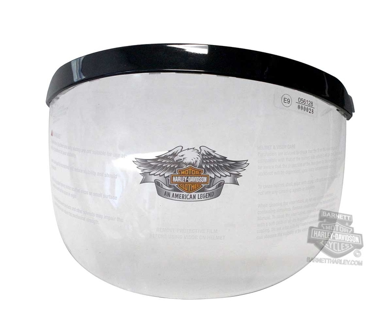 Harley-Davidson® Mens B09 Shell Replacement Face Shield & Visor Clear Helmet Accessories Helmet