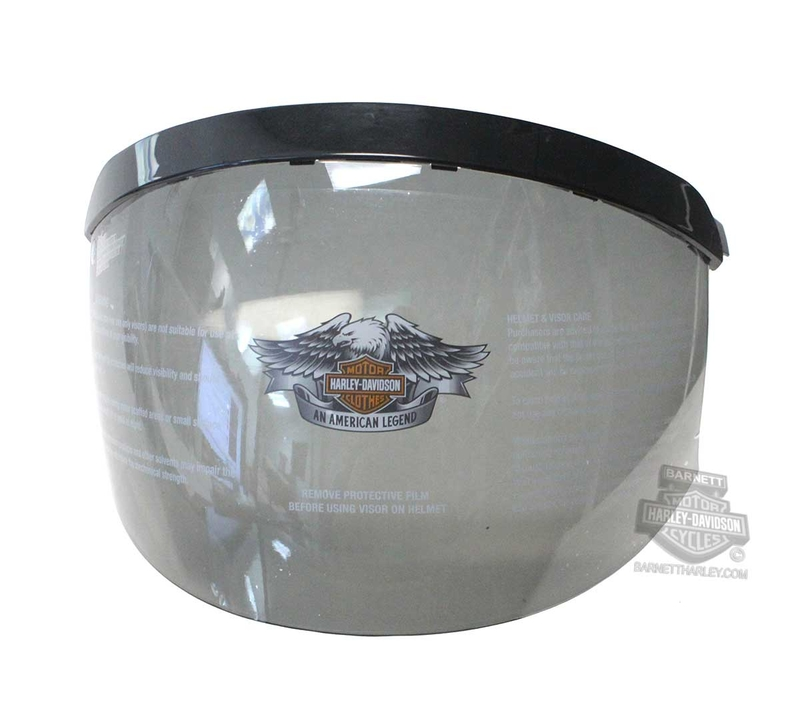 Harley-Davidson® Mens B09 Shell Replacement Face Shield & Visor Smoke Helmet Accessories Helmet