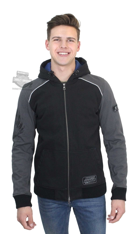 ** SIZE 3X ONLY ** Harley-Davidson® Mens 115th Anniversary Windproof Black Label Slim Fit Black Functional Jacket
