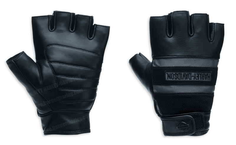 Harley-Davidson® Mens Centerline 3M™ Scotchlite™ Reflective Fingerless Glove