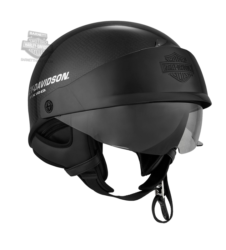 Harley-Davidson® Mens FXRG® B&S J07 with Coolcore® Gloss Black Half Helmet