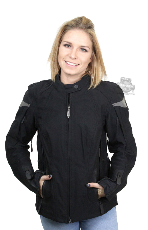 Harley-Davidson® Womens FXRG® Triple Vent System™ Waterproof Riding Black Functional Jacket