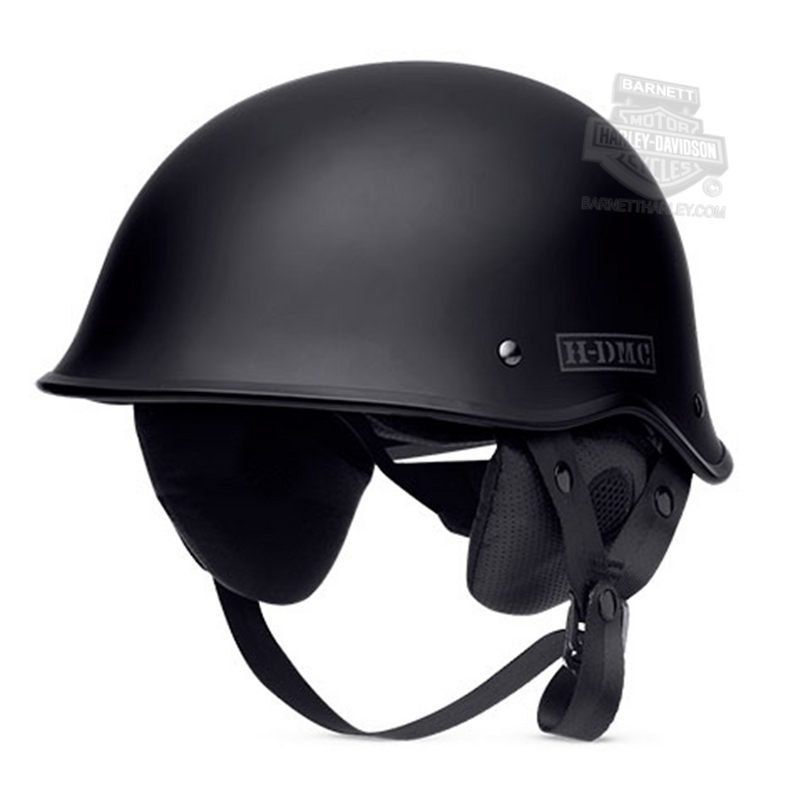 Harley-Davidson® Mens Lone Star Speed Dial Adjustable Fit Matte Black Half Helmet